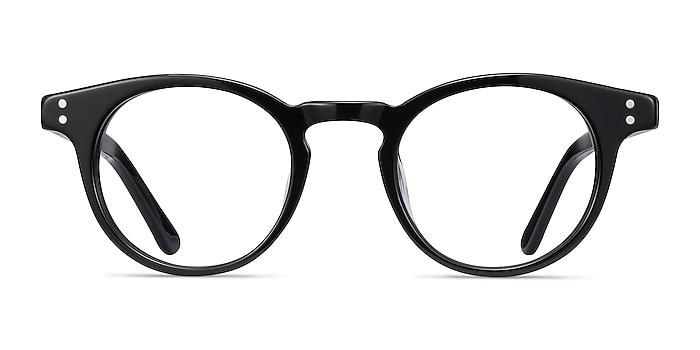 Flora Black Acetate Eyeglass Frames from EyeBuyDirect