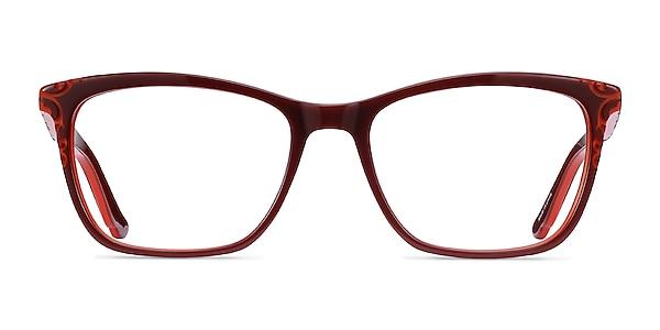 Hedera Burgundy Orange Acetate Eyeglass Frames