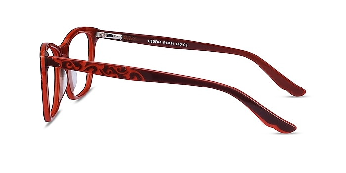 Hedera Burgundy Orange Acétate Montures de lunettes de vue d'EyeBuyDirect