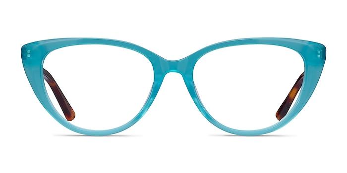 Anastasia Turquoise & Tortoise Acetate Eyeglass Frames from EyeBuyDirect
