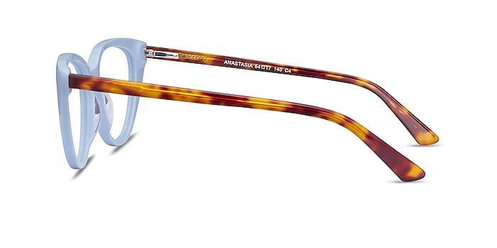 Anastasia Baby Blue & Tortoise Acetate Eyeglass Frames from EyeBuyDirect