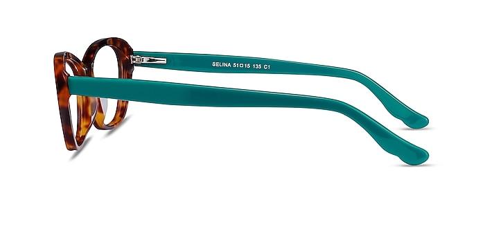 Selina Tortoise & Teal Acetate Eyeglass Frames from EyeBuyDirect