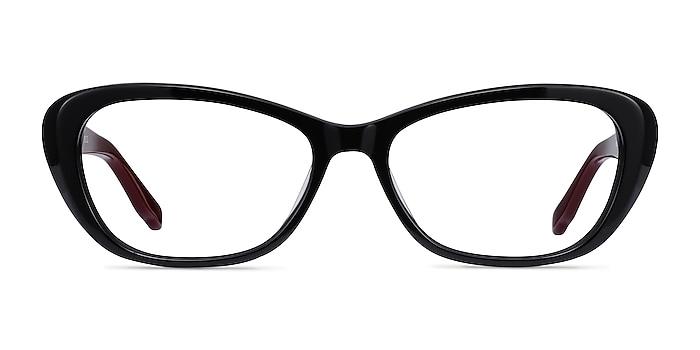 Selina Black & Burgundy Acetate Eyeglass Frames from EyeBuyDirect