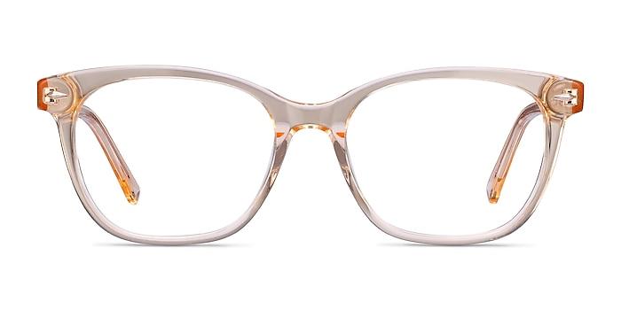 Yana Clear Melon Acetate Eyeglass Frames from EyeBuyDirect