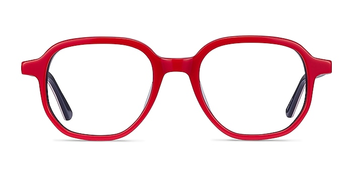 States Red & Navy Acetate Eyeglass Frames from EyeBuyDirect