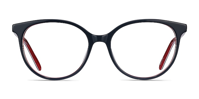 Patriot Navy & Red Acetate Eyeglass Frames from EyeBuyDirect