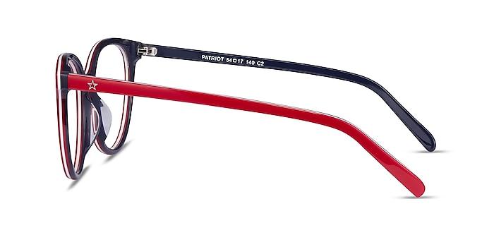 Patriot Red & Navy Acetate Eyeglass Frames from EyeBuyDirect