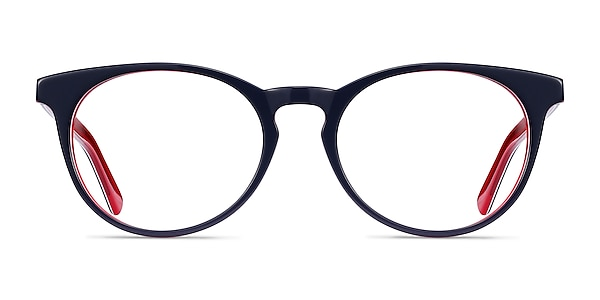 Tradition Navy & Red Acetate Eyeglass Frames