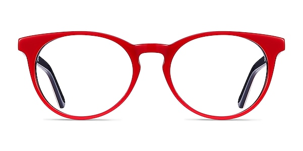 Tradition Red & Navy Acetate Eyeglass Frames