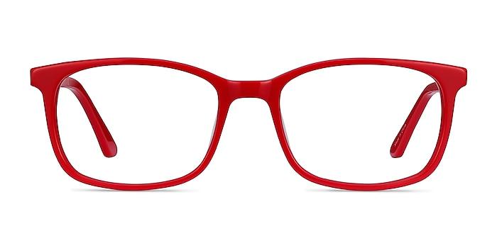 Equality Rouge Acétate Montures de lunettes de vue d'EyeBuyDirect
