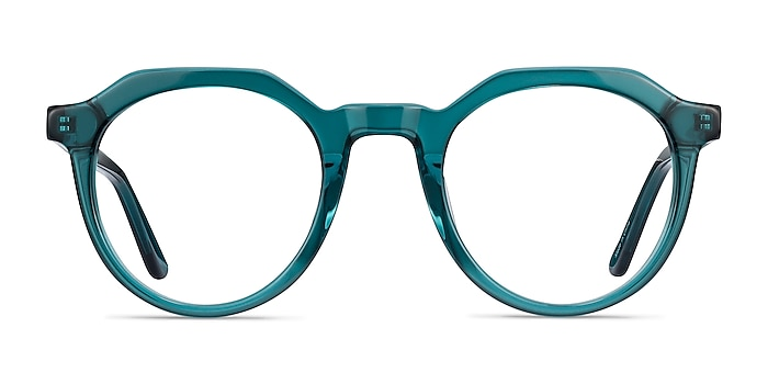 Mikoto Teal Acetate Eyeglass Frames from EyeBuyDirect
