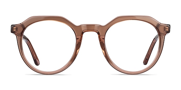 Mikoto Clear Brown Acetate Eyeglass Frames