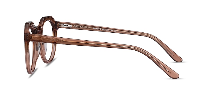 Mikoto Clear Brown Acetate Eyeglass Frames from EyeBuyDirect