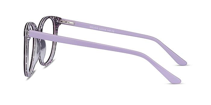 Solveig Purple Acetate Eyeglass Frames from EyeBuyDirect