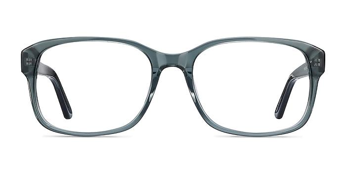 Tobias Clear Gray Acetate Eyeglass Frames from EyeBuyDirect
