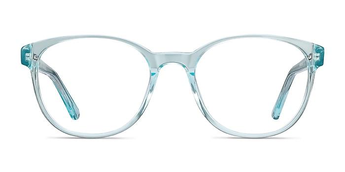 Gable Clear Blue Acetate Eyeglass Frames from EyeBuyDirect