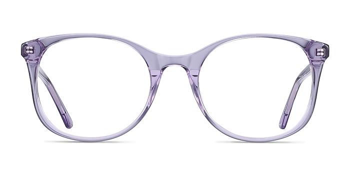 Greta Clear Purple Acetate Eyeglass Frames from EyeBuyDirect