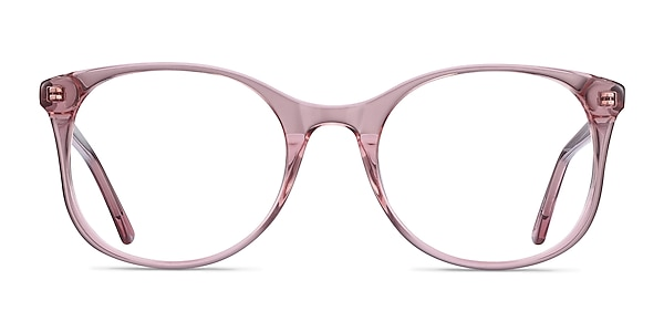 Greta Clear Pink Acetate Eyeglass Frames