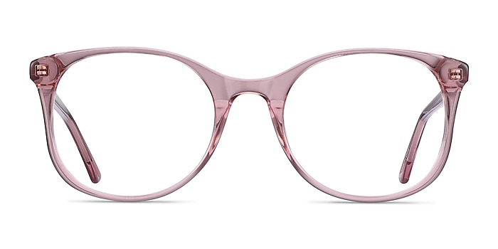 Greta Clear Pink Acétate Montures de lunettes de vue d'EyeBuyDirect