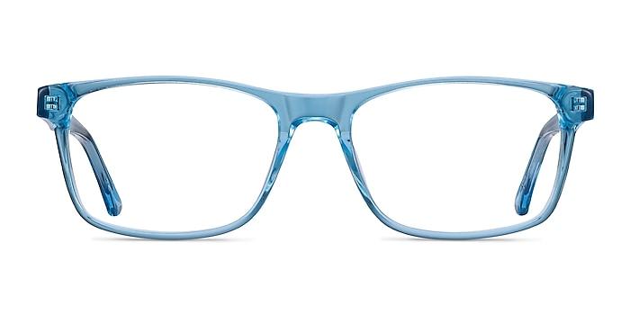 Pochi Blue Acetate Eyeglass Frames from EyeBuyDirect