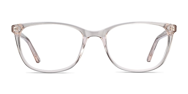 Lena Clear Beige Acetate Eyeglass Frames