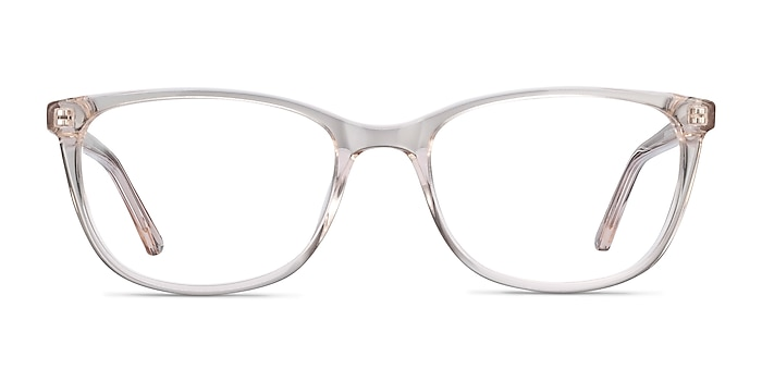 Lena Clear Beige Acetate Eyeglass Frames from EyeBuyDirect