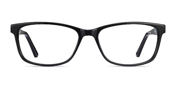 Marion Black Acetate Eyeglass Frames from EyeBuyDirect