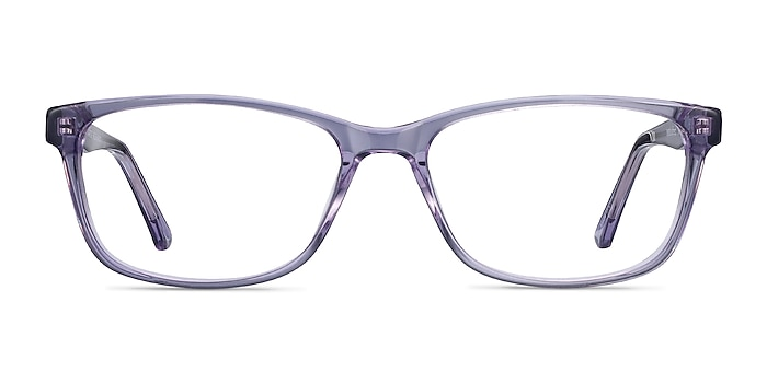 Marion Clear Purple Acetate Eyeglass Frames from EyeBuyDirect