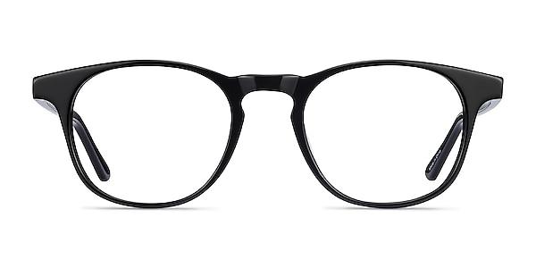 Alastor Black Acetate Eyeglass Frames