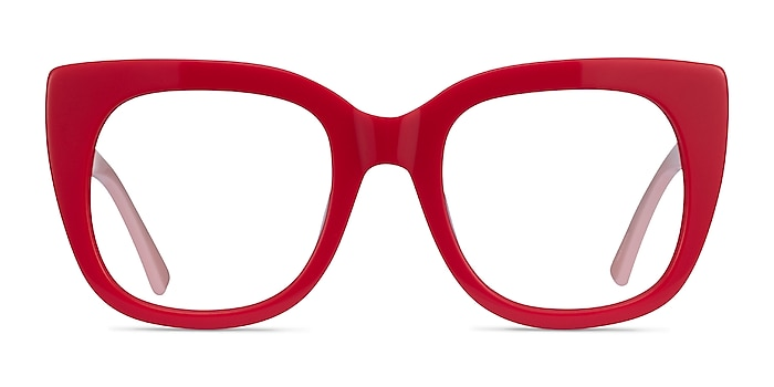 Unique Red & Pink Acetate Eyeglass Frames from EyeBuyDirect