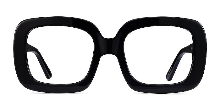 Gloria Noir Acétate Montures de lunettes de vue d'EyeBuyDirect