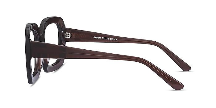 Gloria Marron Acétate Montures de lunettes de vue d'EyeBuyDirect