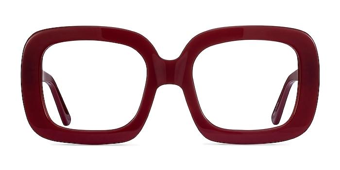 Gloria Burgundy Acetate Eyeglass Frames from EyeBuyDirect