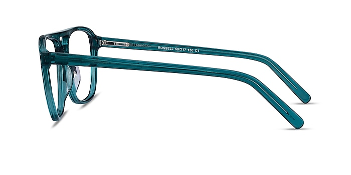 Russell Teal Acetate Eyeglass Frames from EyeBuyDirect
