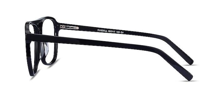 Russell Noir Acétate Montures de lunettes de vue d'EyeBuyDirect