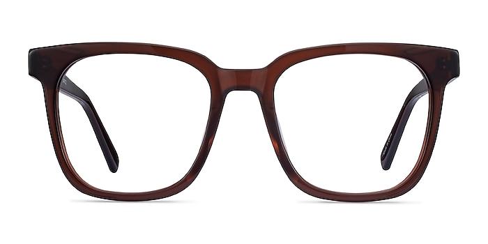 Kenneth Café Acétate Montures de lunettes de vue d'EyeBuyDirect
