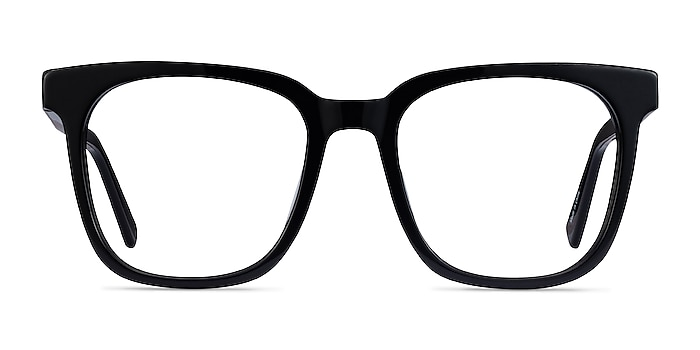 Kenneth Black Acetate Eyeglass Frames from EyeBuyDirect