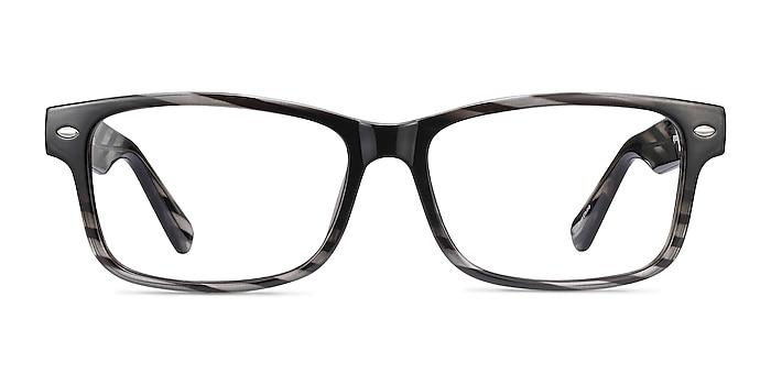Persisto Black Striped Plastic Eyeglass Frames from EyeBuyDirect