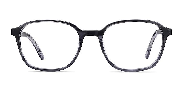 Efficient Black Striped Acetate Eyeglass Frames from EyeBuyDirect