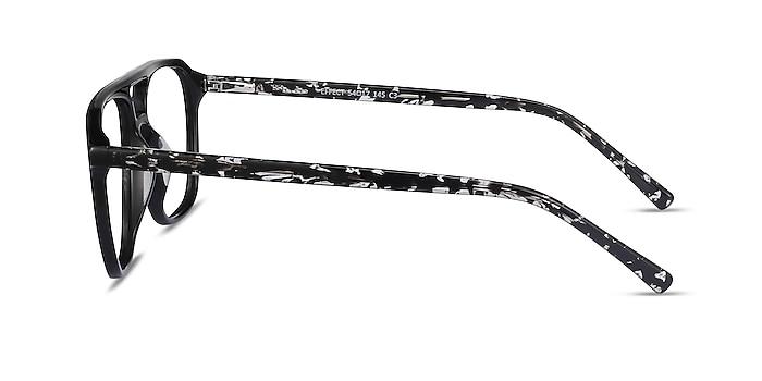 Effect Noir Acétate Montures de lunettes de vue d'EyeBuyDirect