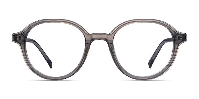 Satisfy Clear Gray Acetate Eyeglass Frames from EyeBuyDirect