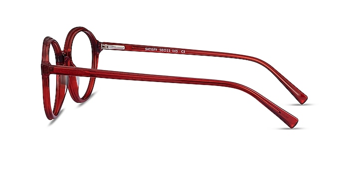 Satisfy Clear Red Acetate Eyeglass Frames from EyeBuyDirect