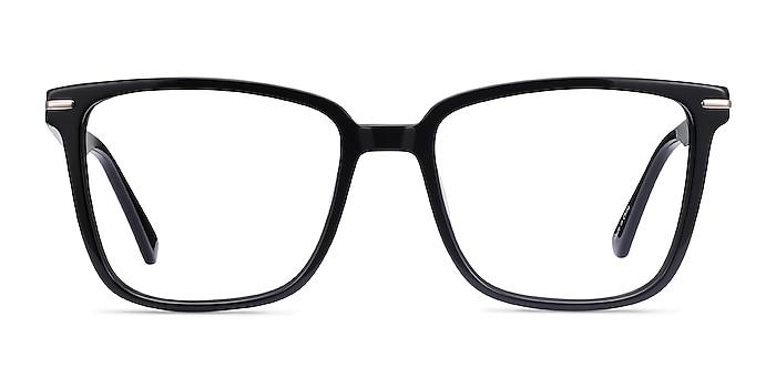 Canvas Noir Acétate Montures de lunettes de vue d'EyeBuyDirect