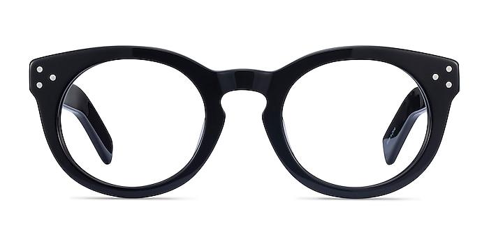 Morla Noir Acétate Montures de lunettes de vue d'EyeBuyDirect