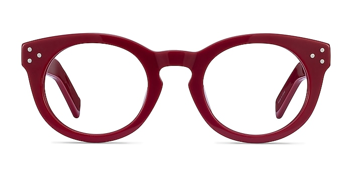 Morla Burgundy Acétate Montures de lunettes de vue d'EyeBuyDirect