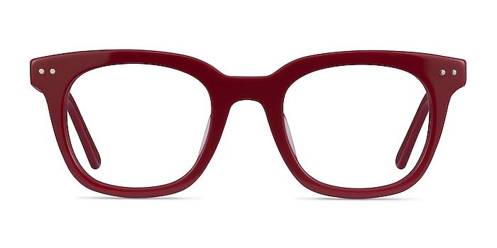 Romy Burgundy Acétate Montures de lunettes de vue d'EyeBuyDirect