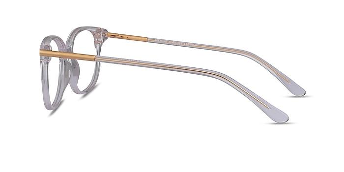 Jasmine Clear Metal Eyeglass Frames from EyeBuyDirect