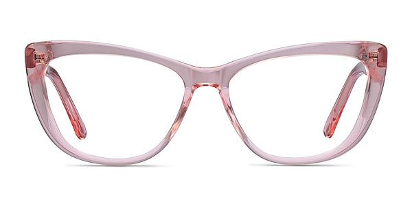 Charlotte Clear Pink Acetate Eyeglass Frames