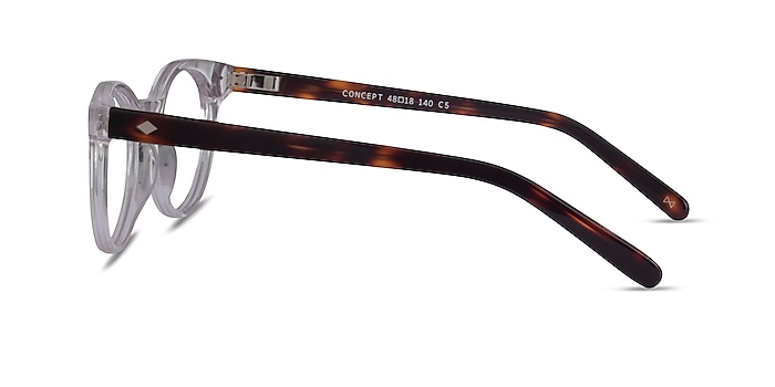 Concept Clear Tortoise Acetate Eyeglass Frames from EyeBuyDirect