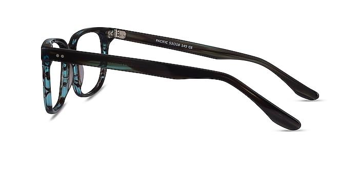 Pacific StripedBlue Acetate Eyeglass Frames from EyeBuyDirect